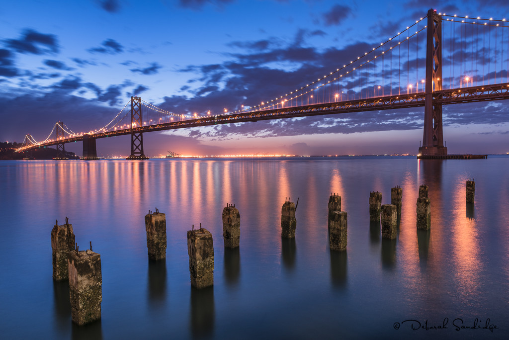 Bay Bridge before sunrise.